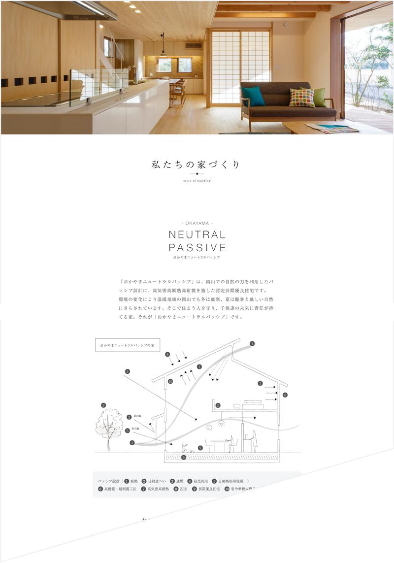 商品サービスの情報設計ページ